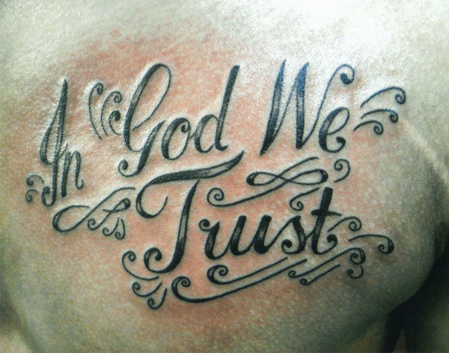 In God we trust Tattoo